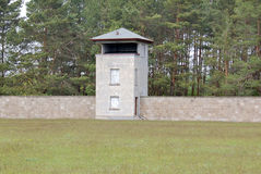 Mirador of Nazi concentration camp Royalty Free Stock Images