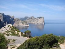 Mirador next to cap de formentor Royalty Free Stock Photos