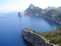 Mirador next to cap de formentor Royalty Free Stock Photography