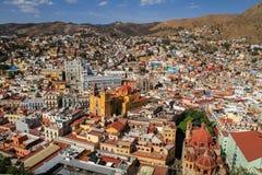 Mirador sikt av Guanajuato, Mexico Arkivbilder