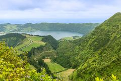 Sete Cidades on the island of Sao Miguel in the Azores, Portugal Stock Photo