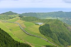 Sete Cidades on the island of Sao Miguel in the Azores, Portugal Stock Photography