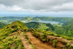 Sete Cidades on the island of Sao Miguel in the Azores, Portugal Royalty Free Stock Image