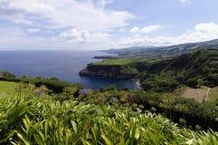miradouro de圣诞老人・ Iria。 圣地米格尔。 亚速尔群岛 库存照片