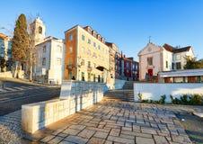 Miradouro de Санта Luzia в Лиссабоне, Португалии - никто Стоковые Фото