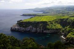 Miradouro De Santa Iria, Ilha robi Sao Miguel, Azore obrazy stock