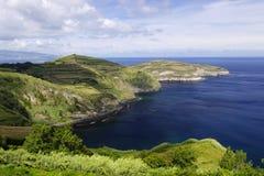Miradouro de Santa Iria. Sao Miguel. Azores Fotografering för Bildbyråer