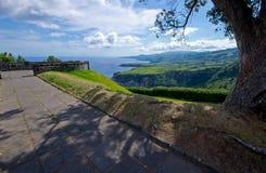 Miradouro de Santa Iria, SaoMiguel ö Royaltyfri Fotografi