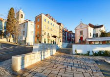 Miradouro de Santa Luzia i Lissabon, Portugal - ingen Arkivfoton