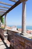 Miradouro de Santa Luzia, Lisbon Royalty Free Stock Photography