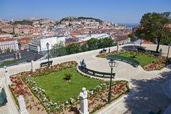 Miradouro de Sao Pedro de Alcantara Lisbon lizenzfreies stockfoto