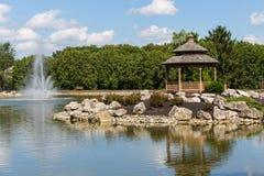 Miradouro e lagoa Fotografia de Stock Royalty Free