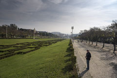 Miradouro faz Parque Eduardo VI Lisboa Portugal Imagens de Stock Royalty Free