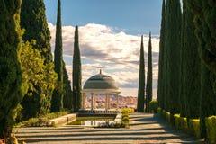 Miradouro histórico, jardim da concepção, la Concepción do jardin em Malaga, Espanha fotos de stock