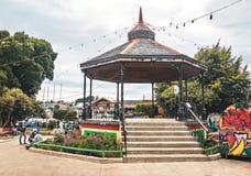 Miradouro no quadrado de plaza de armas - Ancud, ilha de Chiloe, o Chile foto de stock royalty free