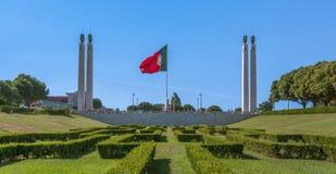 Miradouro Parque爱德华多VII,里斯本,葡萄牙 免版税库存图片