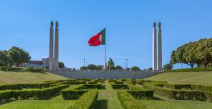 Miradouro Parque Eduardo VII, Lissabon, Portugal royalty-vrije stock afbeelding
