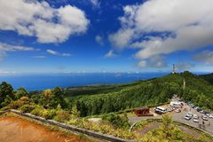 Miradouro Vista hace Rei, Sete Cidades, sao Miguel Island fotos de archivo