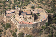 Miraflores Alconchel Castle, Extremadura, Spain. Alor mountain Royalty Free Stock Image