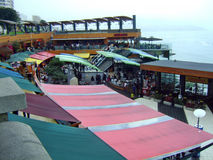 Miraflores center. Miraflores coast market and views Royalty Free Stock Photography
