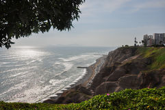Miraflores cliffs, Lima, Peru Stock Photo