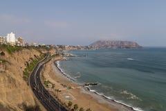 Miraflores linia brzegowa Zdjęcia Royalty Free