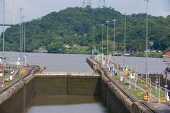Miraflores lock Panama Canal Royalty Free Stock Photography