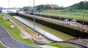 Miraflores Locks Royalty Free Stock Photos