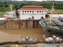 MIRAFLORES LOCKS, PANAMA Stock Photos