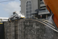 Miraflores Locks at Panama Canal. Panama Royalty Free Stock Photography