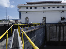 Miraflores Locks at Panama Canal Stock Image