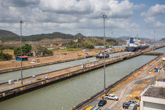 Miraflores Locks, Panama Canal Stock Photo