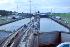 MIRAFLORES LOCKS Royalty Free Stock Photography