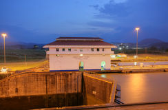 The Miraflores Locks in the Panama Canal Stock Photography