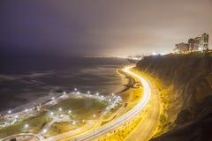 Miraflores Malecà ³ n i Lima, Peru Arkivbilder