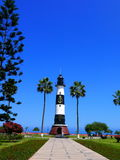 Miraflores park and a lighthouse, Lima, Peru Royalty Free Stock Photo