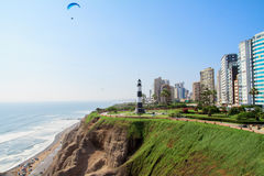 Miraflores Town landscapes in Lima peru royalty free stock photos