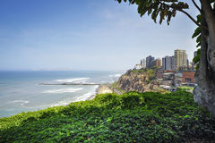 Miraflores Town landscapes in Lima ,Peru Royalty Free Stock Image