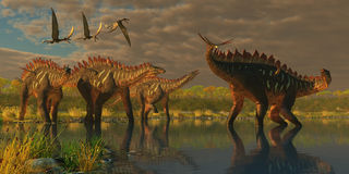 Miragaia Dinosaurs Royalty Free Stock Photos