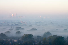 Mirage. Early Morning fog blanked Toronto Royalty Free Stock Image