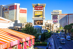 The Mirage, Caesars Palace and other resorts on the strip. Stock Photos