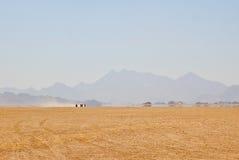 Mirage in desert Stock Image