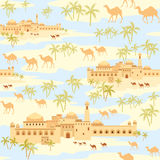 Mirage in the desert Royalty Free Stock Photos