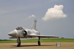 The mirage 2000-5 on display. Republic of China mirage 2000-5 jet fighter.Photo taken on:July 19th, 2014 in Taiwan Royalty Free Stock Photo