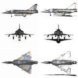 Mirage - Fighter Aircraft. 3d render of a mirage - fighter aircraft Royalty Free Stock Images