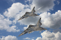 Mirage - Fighter Aircraft. 3d render of a mirage - fighter aircraft Royalty Free Stock Photography