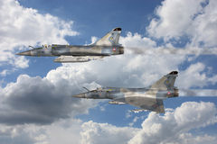 Mirage - Fighter Aircraft. 3d render of a mirage - fighter aircraft Stock Photos