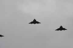 Mirage, French warplanes in sky Royalty Free Stock Photography