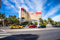 The Mirage Hotel and Casino with heavy traffic Royalty Free Stock Photos