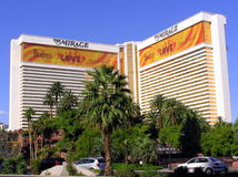 The Mirage Hotel and Casino in Las Vegas Nevada stock images